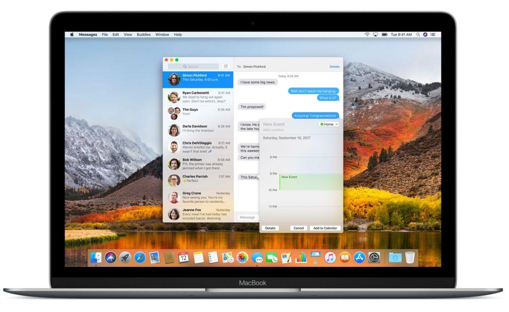 Image de presse Apple du MacBook 2017.