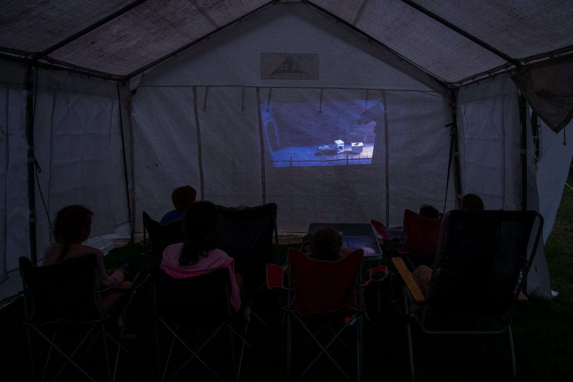 Home cinéma camping