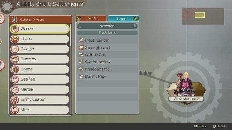 Xenoblade Chronicles Affinity Colony 9 Npc Trade