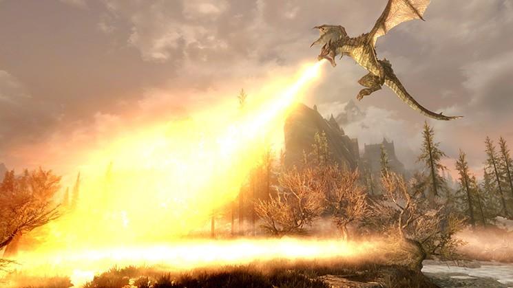 Dragon dans Skyrim