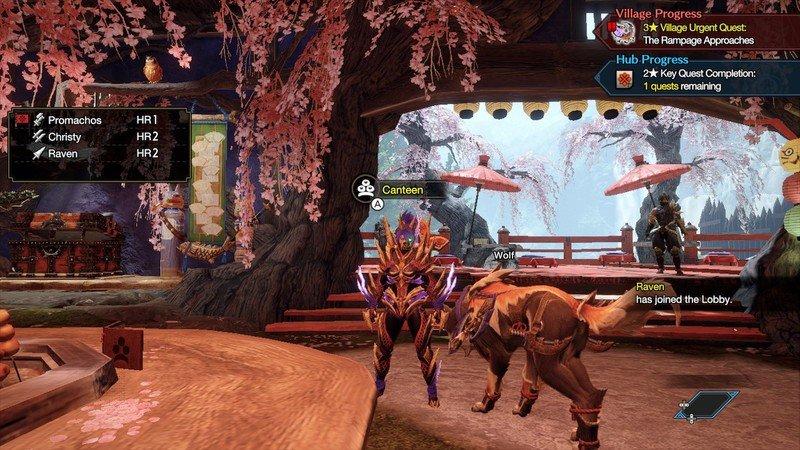 Hub de rassemblement Monster Hunter Rise