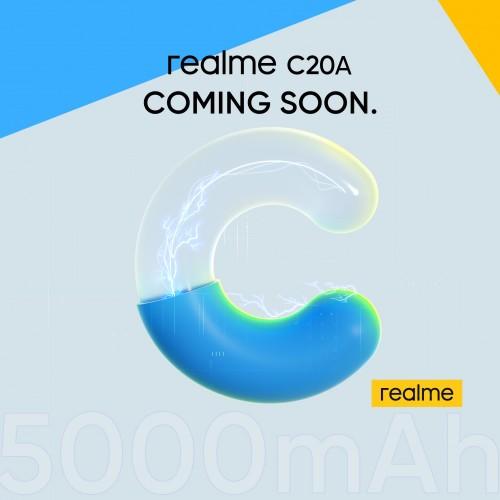 Realme C20A sera dévoilé la semaine prochaine