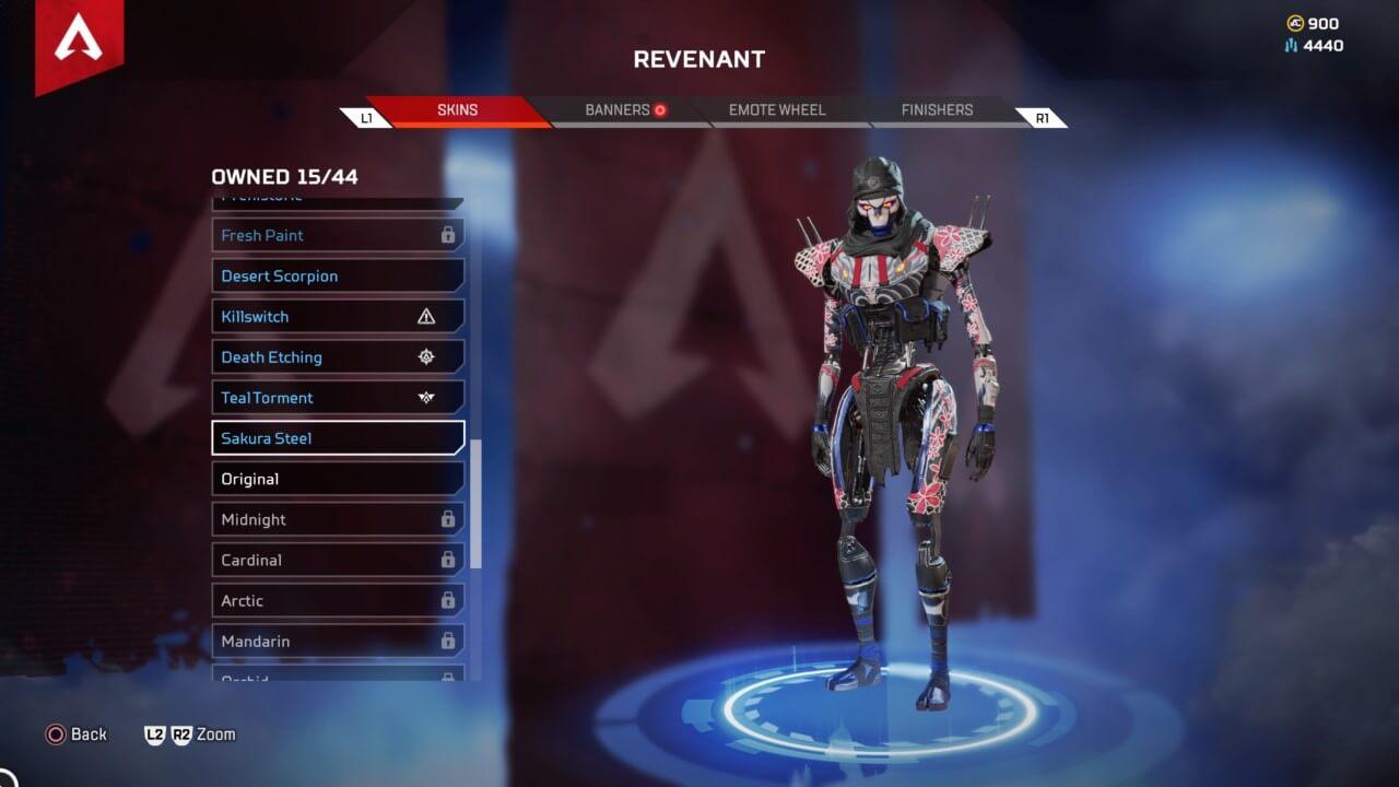 Apex Legends Revenant Sakura Steel Exclusif Skin Prime