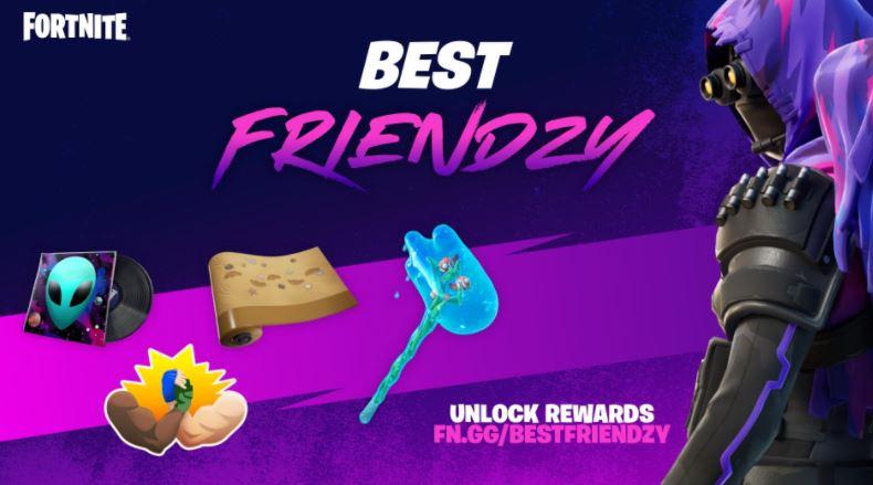 Meilleures récompenses cosmétiques Friendzy Fortnite