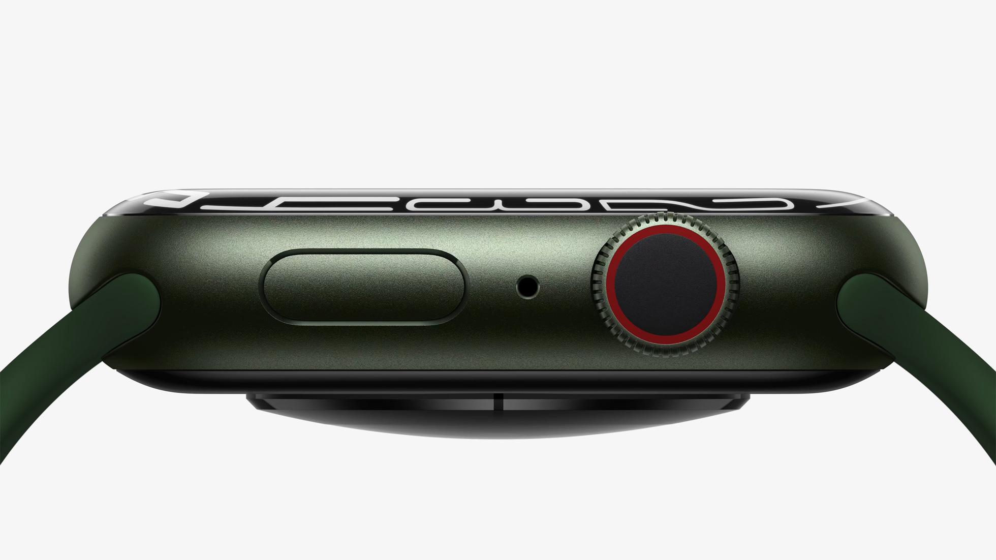 Image marketing d'Apple montrant une vue de profil de l'Apple Watch Series 7